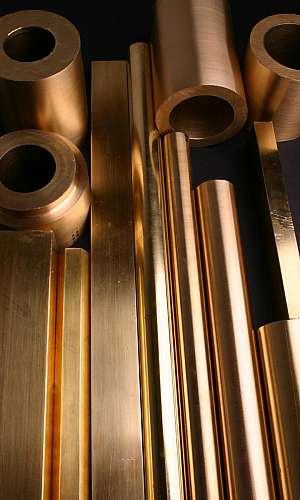 Barra quadrada bronze