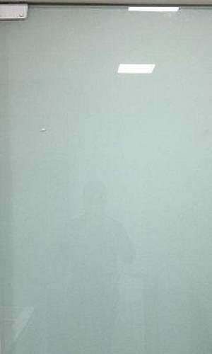 Porta de vidro temperado para escritório