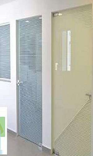 Porta de vidro temperado para loja