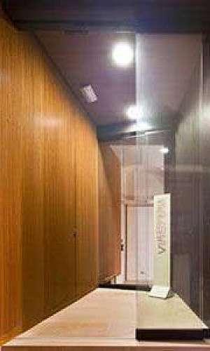 Porta telescopica de vidro